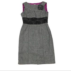 Tweed Sleeveless Sheath Dress By Muse. Size 8.